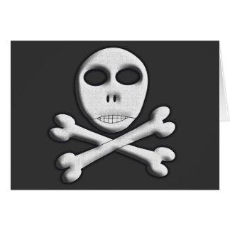 Totenkopf mit gekreuzter Knochen Karte