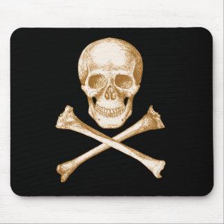 Totenkopf mit gekreuzter Knochen Mauspad