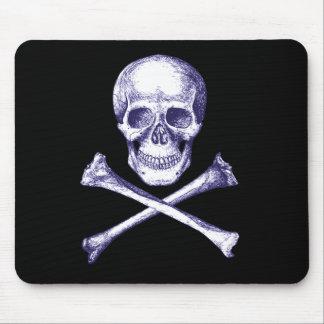 Totenkopf mit gekreuzter Knochen Mousepad