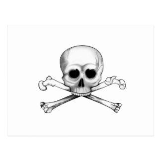 Totenkopf mit gekreuzter Knochen Postkarte
