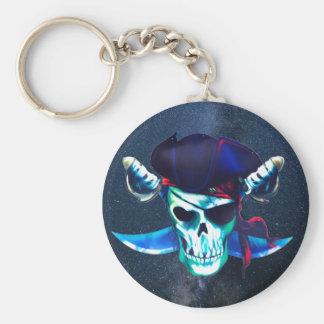 Totenkopf mit gekreuzter Knochen Schlüsselanhänger