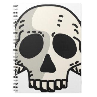 Totenkopf mit gekreuzter Knochen Spiral Notizblock