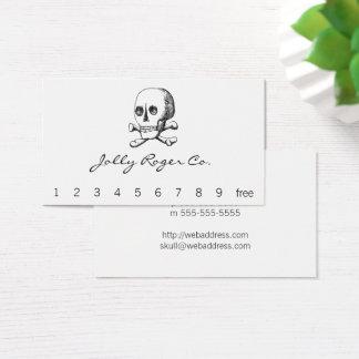 Totenkopf mit gekreuzter Knochen Visitenkarte