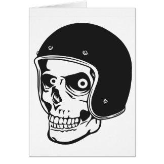 Totenkopf mit Helm Karte