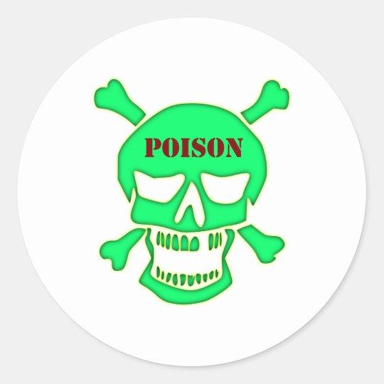 Totenkopf Schädel Gift skull poison Runder Aufkleber