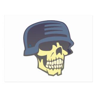 Totenkopf Schädel Helm skull helmet Postkarte