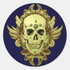 Totenkopf Schädel skull Runder Aufkleber