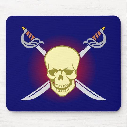 Totenkopf Schädel skull Schwerter swords Mousepad