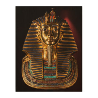 Totenmaske-Wand-Kunst Tutunkhamun König-Ägypten Holzdruck
