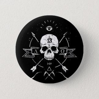 Totenstarre Runder Button 5,7 Cm
