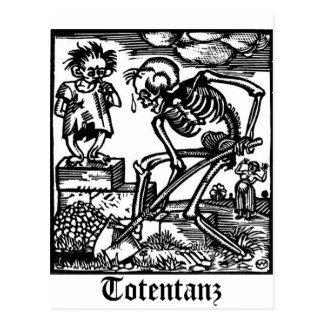 Totentanz Tod und die Jungenpostkarte Postkarte