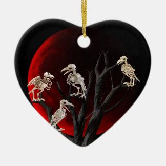 Toter Baum Keramik Herz-Ornament