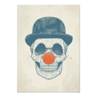 Toter Clown 12,7 X 17,8 Cm Einladungskarte