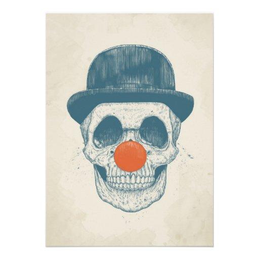 Toter Clown Individuelle Ankündigskarten