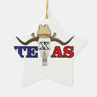 toter Cowboy Texas Keramik Ornament