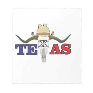 toter Cowboy Texas Notizblock