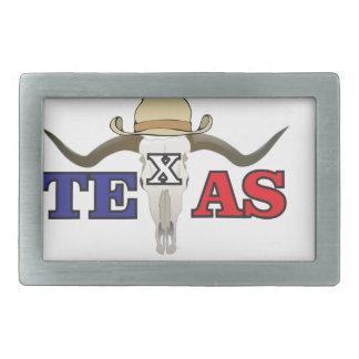 toter Cowboy Texas Rechteckige Gürtelschnalle