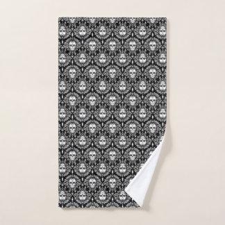Toter Damast-schwarzer u. raffinierter Handtuch