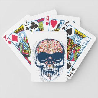 toter farbiger Entwurf des Schädels Zombie Bicycle Spielkarten