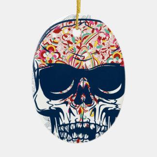 toter farbiger Entwurf des Schädels Zombie Keramik Ornament