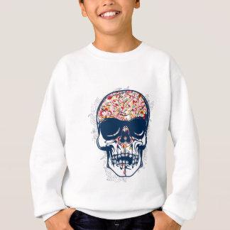 toter farbiger Entwurf des Schädels Zombie Sweatshirt