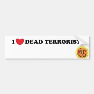 Toter Terrorist der Liebe I Autoaufkleber