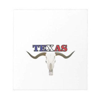 toter Texaslonghorn Notizblock