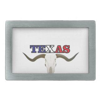 toter Texaslonghorn Rechteckige Gürtelschnalle