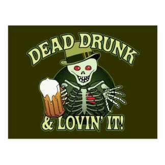 Totes betrunkenes Skelett Postkarten