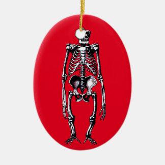 totes Gorillaskelett Ovales Keramik Ornament