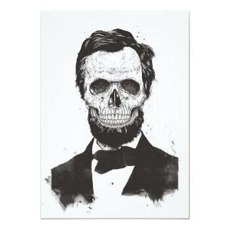 Totes Lincoln (Schwarzweiss) Karte