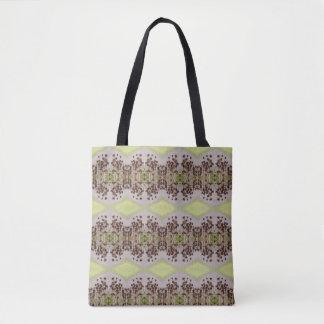 Totes Medium des Blumen-Muster-10 Tasche