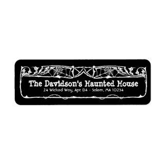 Totes Rosen-Halloween-Adressen-Etikett auf