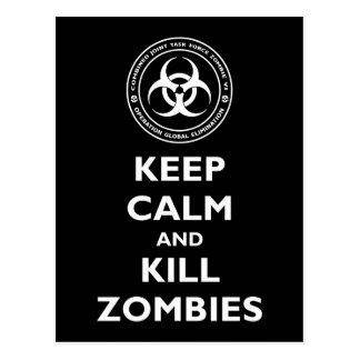 Tötungs-Zombies Postkarte