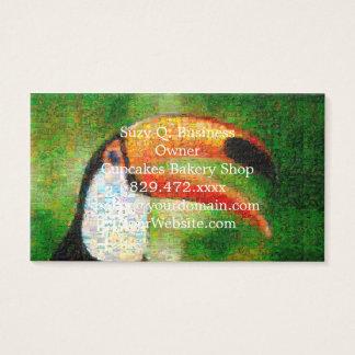 Toucan Collage-toucan Kunst - Collagenkunst Visitenkarte