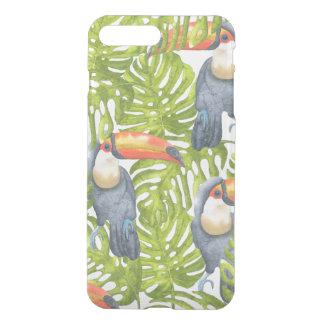Toucan Dschungel-Vogel-Baum-Muster iPhone 8 Plus/7 Plus Hülle