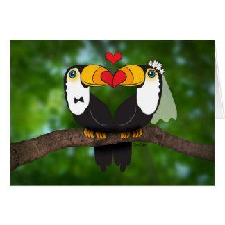 Toucan erhalten verheiratet! Hochzeit Notecard Karte