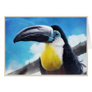 Toucan in der digitalen tropischen Vogelmalerei Karte