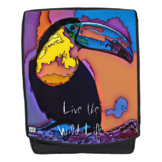 Toucan - leben das wilde Leben/der Rucksack