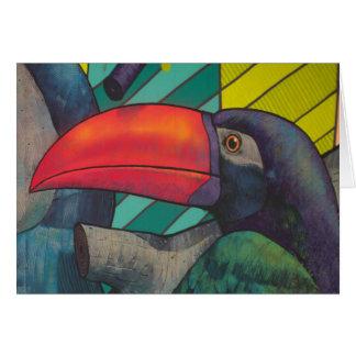 Toucan Porträt-Graffiti Karte