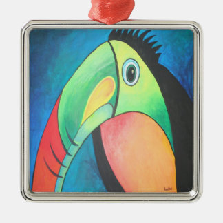 Toucan Silbernes Ornament