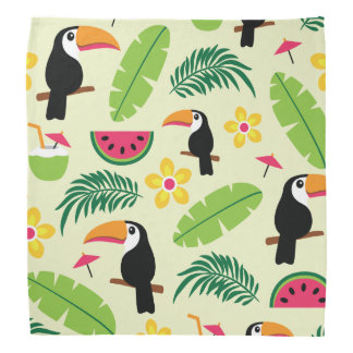 Toucan tropisches Sommer-Muster Halstuch