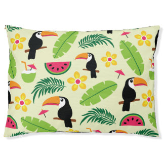Toucan tropisches Sommer-Muster Haustierbett