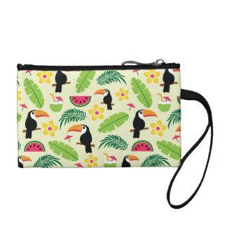 Toucan tropisches Sommer-Muster Kleingeldbörse
