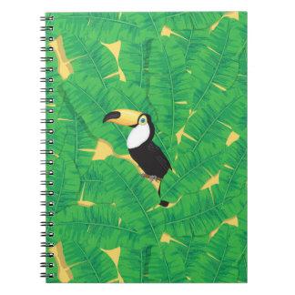 Toucan und Bananen-Blätter Notizblock