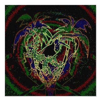 Toucan und Palme Quadratische 13,3 Cm Einladungskarte