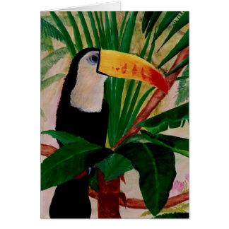 Toucan Vogel-exotische Karte