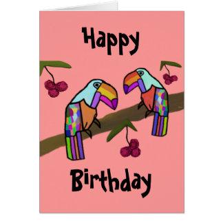 Toucans alles- Gute zum Geburtstagkarte Karte