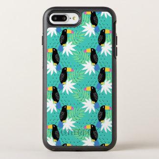 Toucans auf aquamarinem OtterBox symmetry iPhone 8 plus/7 plus hülle