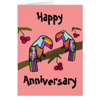 Toucans glücklicher Jahrestag Karte